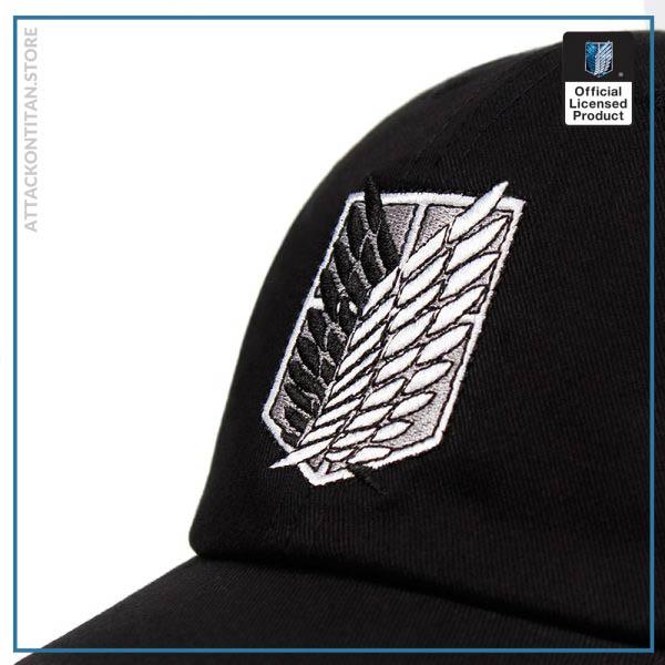 100 Cotton aot regiment Dad Hat embroidery Baseball Cap Women Men Snapback Black Shield Attack on 1 - Attack On Titan Store