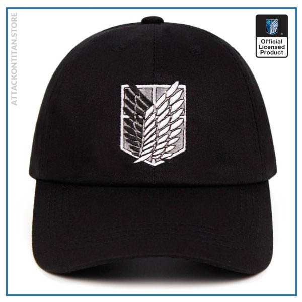 100 Cotton aot regiment Dad Hat embroidery Baseball Cap Women Men Snapback Black Shield Attack on - Attack On Titan Store