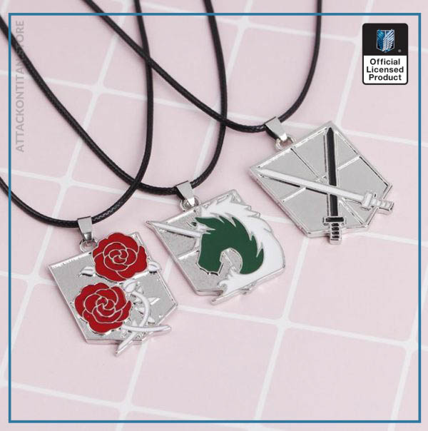 1pc Anime Attack on Titan alloy Necklace figure Toys Wings of Liberty Shingeki No Kyojin Leather 4 - Attack On Titan Store