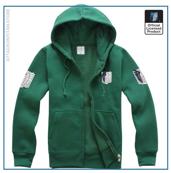 6 Colors Anime Attack on Titan Cosplay Costume Scouting Legion Hoodie Allen Hooded Coat Jacket for 1 - Attack On Titan Store
