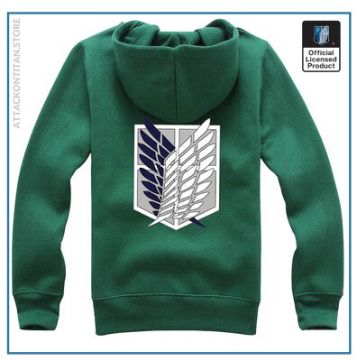 6 Colors Anime Attack on Titan Cosplay Costume Scouting Legion Hoodie Allen Hooded Coat Jacket for 2 - Attack On Titan Store