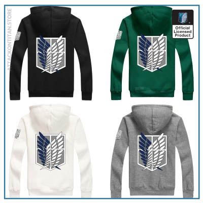 6 Colors Anime Attack on Titan Cosplay Costume Scouting Legion Hoodie Allen Hooded Coat Jacket for - Attack On Titan Store