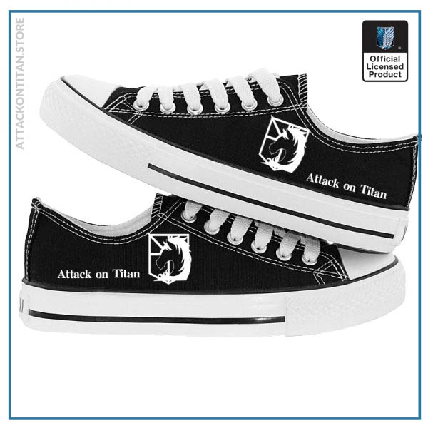 Anime Attack on Titan Print Canvas Shoes Casual Sneaker Shoes Sport Shoes Low top Shoes for 1 - Attack On Titan Store