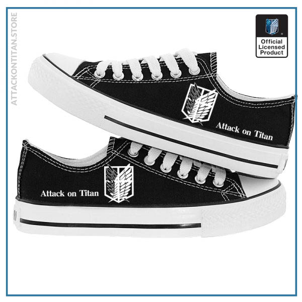 Anime Attack on Titan Print Canvas Shoes Casual Sneaker Shoes Sport Shoes Low top Shoes for 2 - Attack On Titan Store