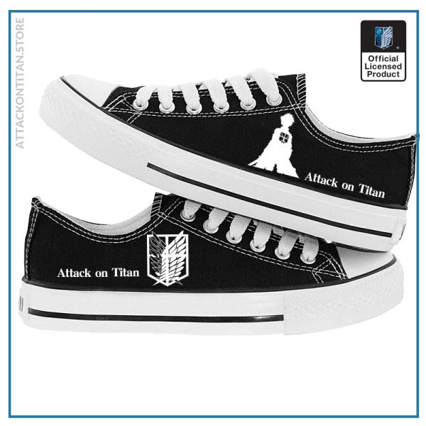 Anime Attack on Titan Print Canvas Shoes Casual Sneaker Shoes Sport Shoes Low top Shoes for - Attack On Titan Store