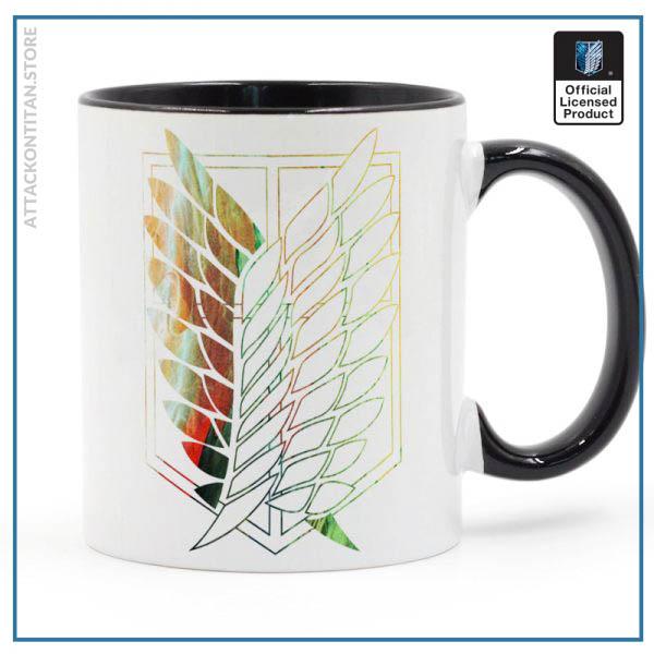 Attack On Titan Badge Logo Mug 11oz Coffee Ceramic Milk Tea Cup Boy Friends Gift 1 - Attack On Titan Store