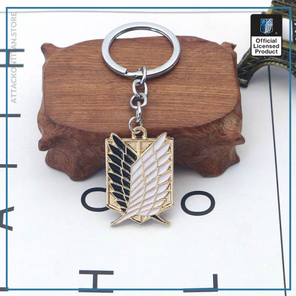 Attack On Titan Keychain Shingeki No Kyojin Anime Cosplay Wings of Liberty Key Chain Rings For 2 - Attack On Titan Store