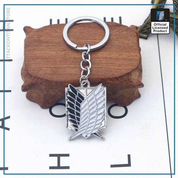 Attack On Titan Keychain Shingeki No Kyojin Anime Cosplay Wings of Liberty Key Chain Rings For 3 - Attack On Titan Store