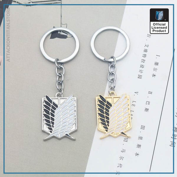 Attack On Titan Keychain Shingeki No Kyojin Anime Cosplay Wings of Liberty Key Chain Rings For 4 - Attack On Titan Store