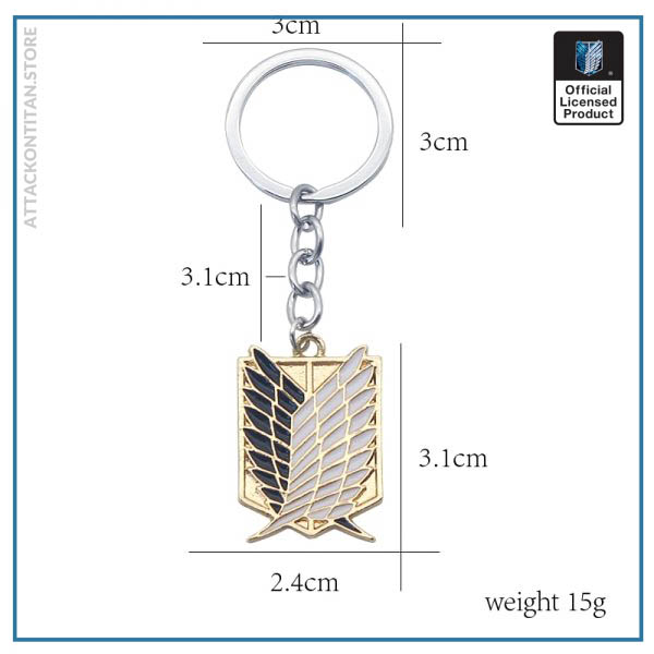 Attack On Titan Keychain Shingeki No Kyojin Anime Cosplay Wings of Liberty Key Chain Rings For 5 - Attack On Titan Store