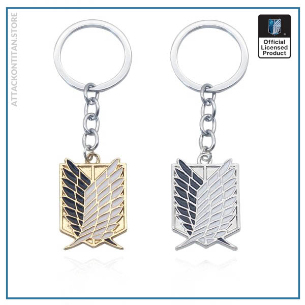 Attack On Titan Keychain Shingeki No Kyojin Anime Cosplay Wings of Liberty Key Chain Rings For - Attack On Titan Store
