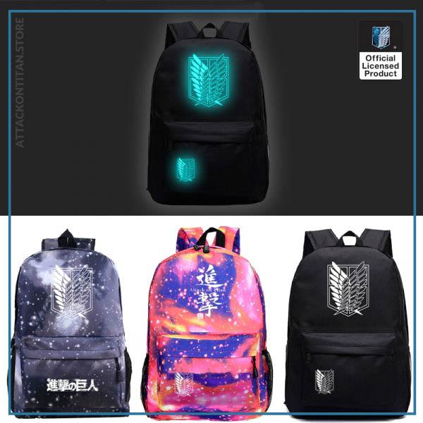 Attack on Titan Backpack Men 2 Women Backbag Travel Mochila Hombre Laptop Back to School Bag - Attack On Titan Store