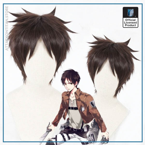Attack on Titan Eren Jaeger Cosplay Wig 30cm Short Straight Brown Heat Resistant Synthetic Hair Wigs - Attack On Titan Store