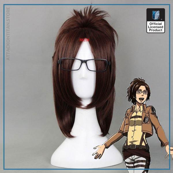 Attack on Titan Hange Zoe 40cm Short Straight Cosplay Wigs for Women Female Fake Hair Anime - Attack On Titan Store
