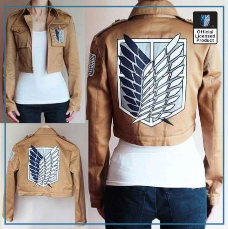 Attack on Titan Jacket Shingeki no Kyojin Legion Coat Cosplay Eren Levi Jacket Plus Size Free 4 - Attack On Titan Store