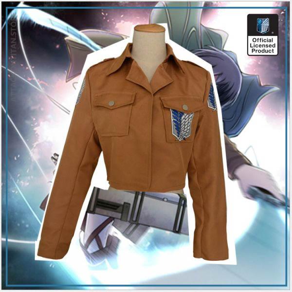 Attack on Titan Jacket Shingeki no Kyojin Legion Coat Cosplay Eren Levi Jacket Plus Size Free 5 - Attack On Titan Store