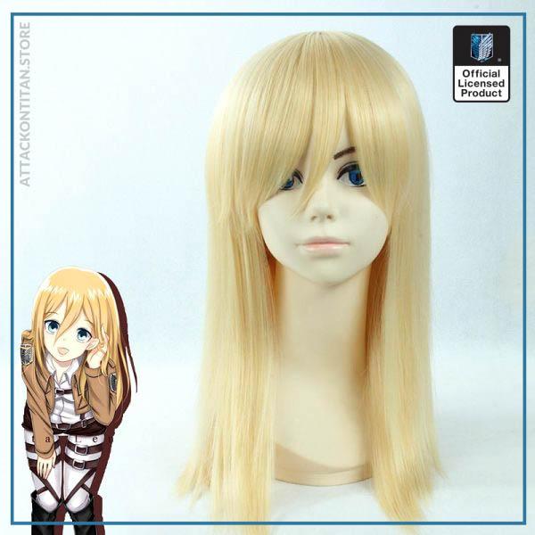 Attack on Titan Krista Lenz Christa Short Blonde Kyojin Renz Heat Resistant Synthetic Hair Cosplay Costume - Attack On Titan Store