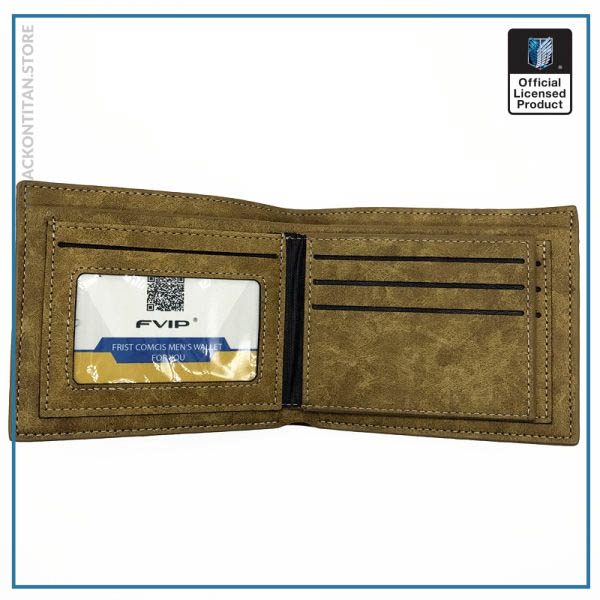 Japanese Anime Death Note Attack on Titan One Piece Game OW Short Wallet With Coin Pocket 1 - Attack On Titan Store