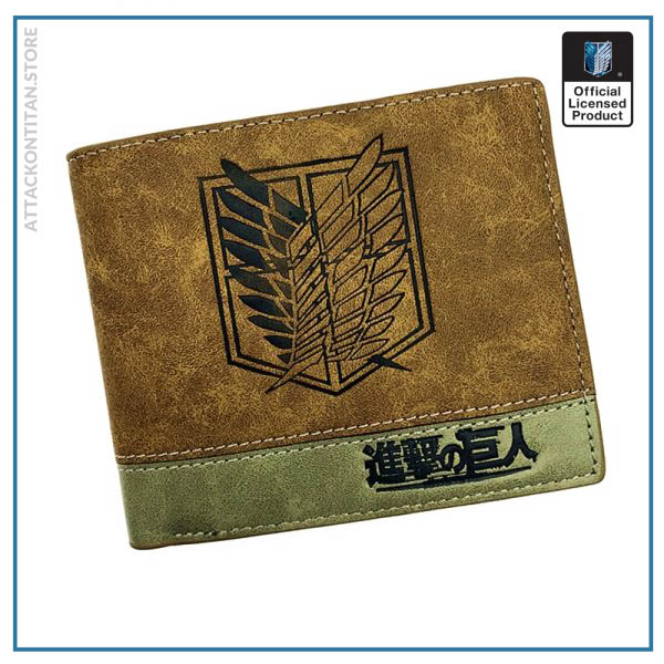 Japanese Anime Death Note Attack on Titan One Piece Game OW Short Wallet With Coin Pocket - Attack On Titan Store