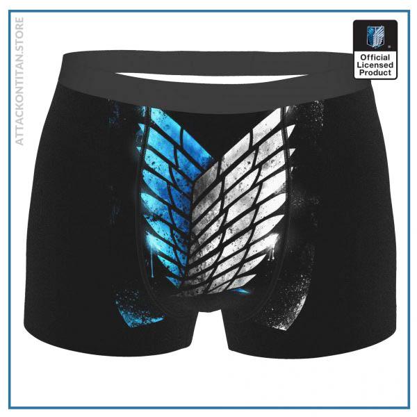 Wings Of Freedom Attack On Titan Final Season Manga Underpants Breathbale Panties Male Underwear Comfortable Shorts - Attack On Titan Store