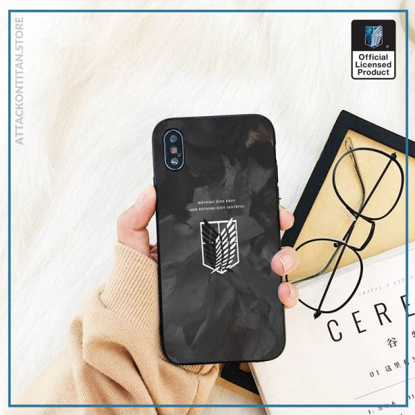 Yinuoda attack on titan DIY Printing Phone Case cover Shell For iPhone 11 8 7 6 1 - Attack On Titan Store