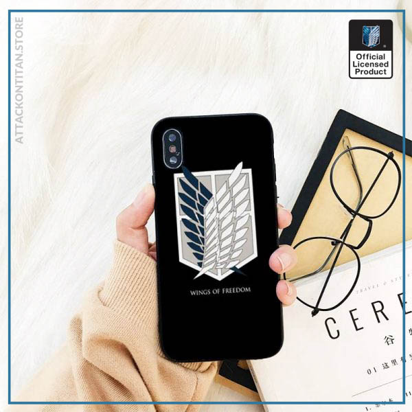 Yinuoda attack on titan DIY Printing Phone Case cover Shell For iPhone 11 8 7 6 2 - Attack On Titan Store