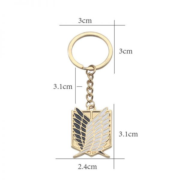 1Pcs Attack On Titan Keychain Shingeki No Kyojin Anime Wings of Liberty Key Chain Rings For 2 - Attack On Titan Store