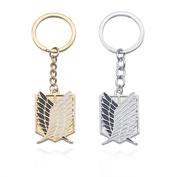 1Pcs Attack On Titan Keychain Shingeki No Kyojin Anime Wings of Liberty Key Chain Rings For - Attack On Titan Store