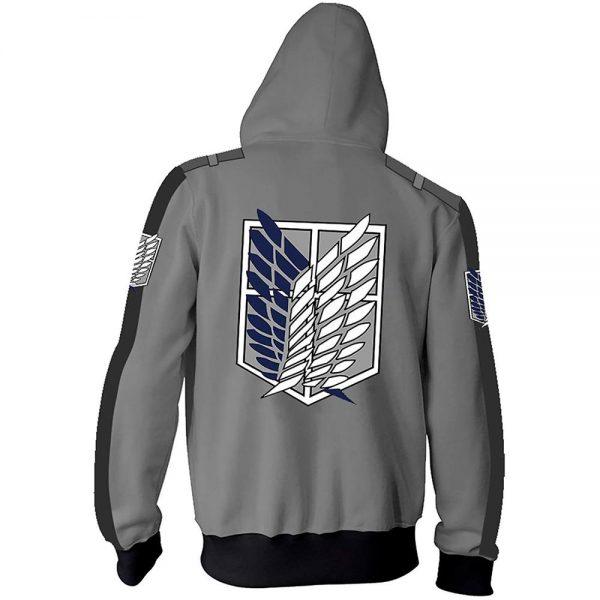 Anime Attack On Titan Cosplay Costumes Men Hoodies Jackets Male Zipper Sweatshirts Shingeki Eren Mikasa Ackerman 1 - Attack On Titan Store