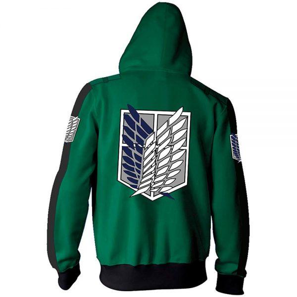 Anime Attack On Titan Cosplay Costumes Men Hoodies Jackets Male Zipper Sweatshirts Shingeki Eren Mikasa Ackerman 3 - Attack On Titan Store