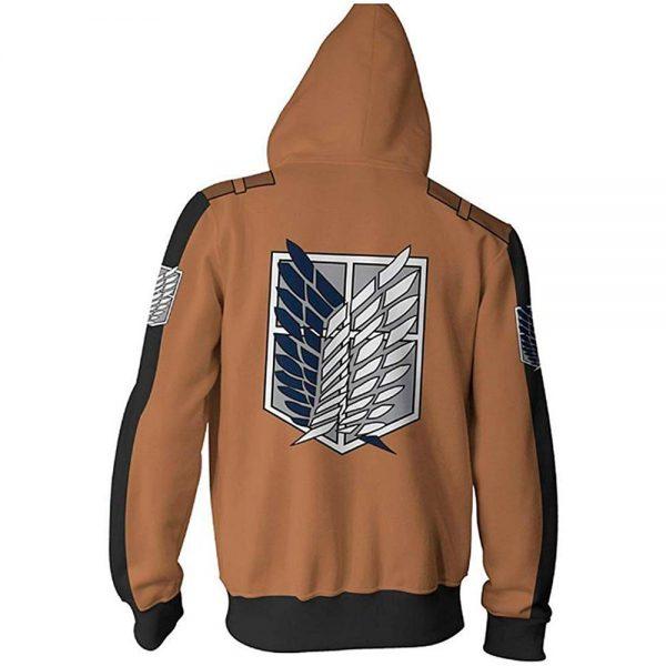 Anime Attack On Titan Cosplay Costumes Men Hoodies Jackets Male Zipper Sweatshirts Shingeki Eren Mikasa Ackerman 5 - Attack On Titan Store