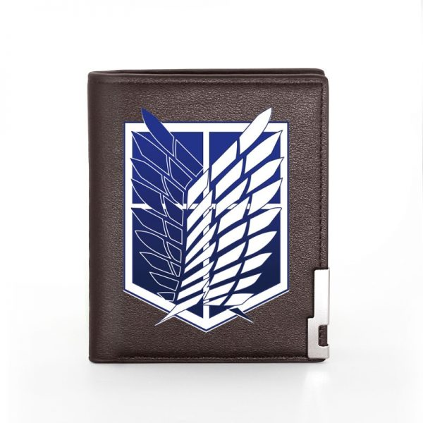 Classic Attack on Titan Printing Pu Leather wallet Men Women Bifold Credit Card Holder Short Purse 4 - Attack On Titan Store