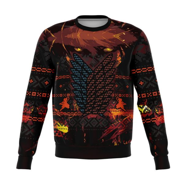 attack on titan 3d ugly christmas sweater 593633 - Attack On Titan Store