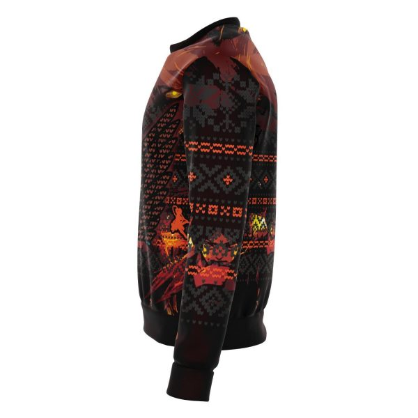 attack on titan 3d ugly christmas sweater 974299 - Attack On Titan Store
