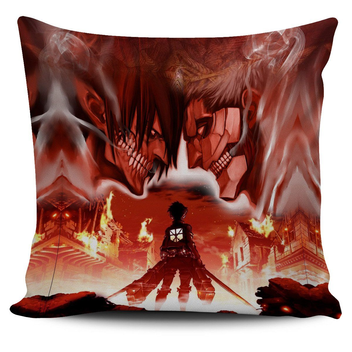burning attack on titan pillow cover 334244 - Attack On Titan Store