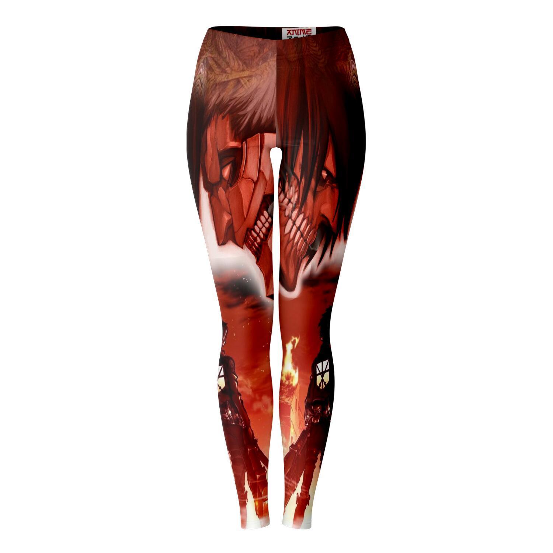 burning attack on titan premium leggings 358112 - Attack On Titan Store