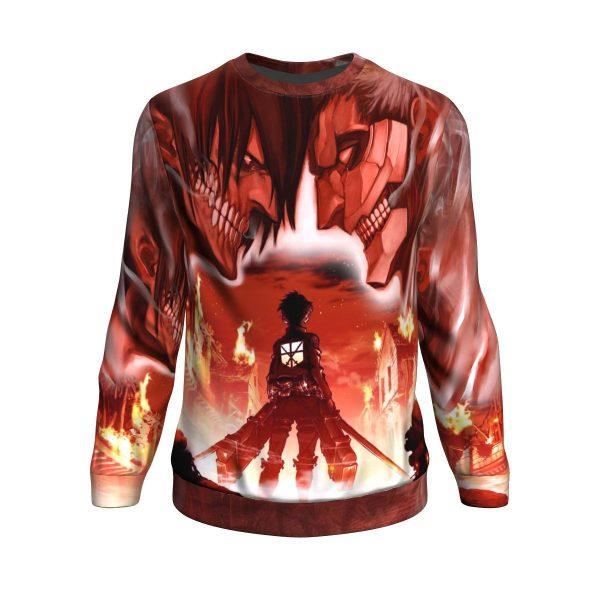 burning attack on titan sweatshirt 396123 - Attack On Titan Store