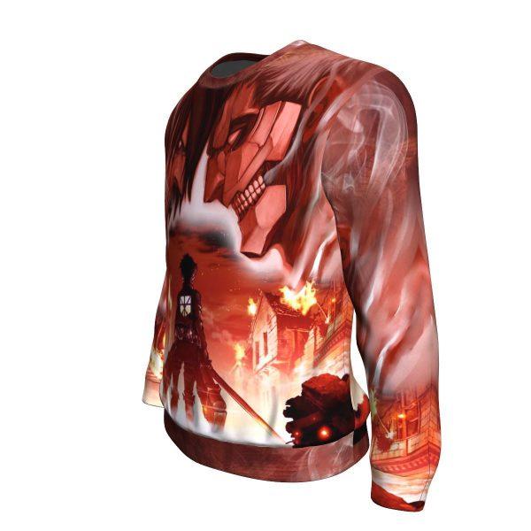 burning attack on titan sweatshirt 605707 - Attack On Titan Store