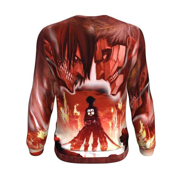 burning attack on titan sweatshirt 818542 - Attack On Titan Store