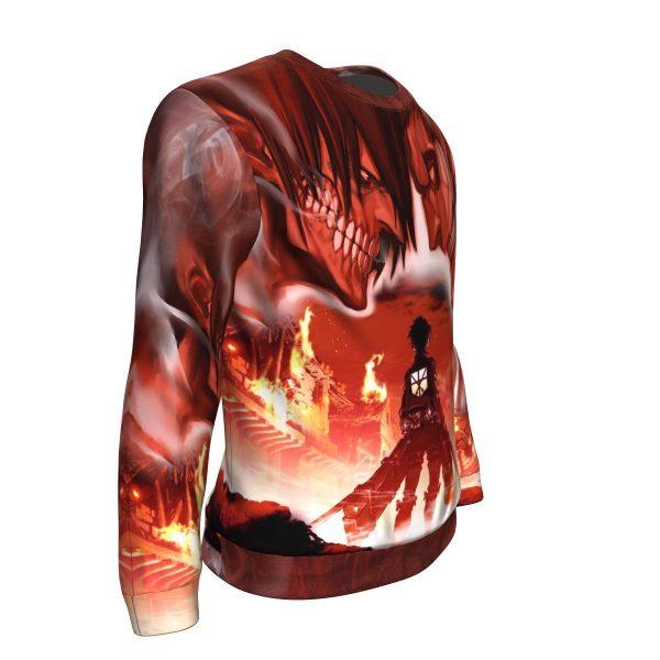 burning attack on titan sweatshirt 820024 - Attack On Titan Store