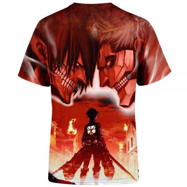 burning attack on titan t shirt 535825 - Attack On Titan Store