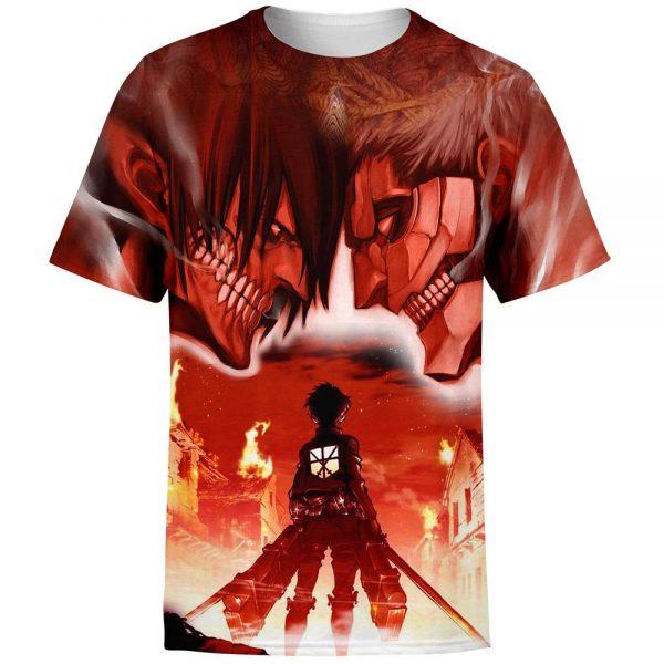 burning attack on titan t shirt 871507 - Attack On Titan Store