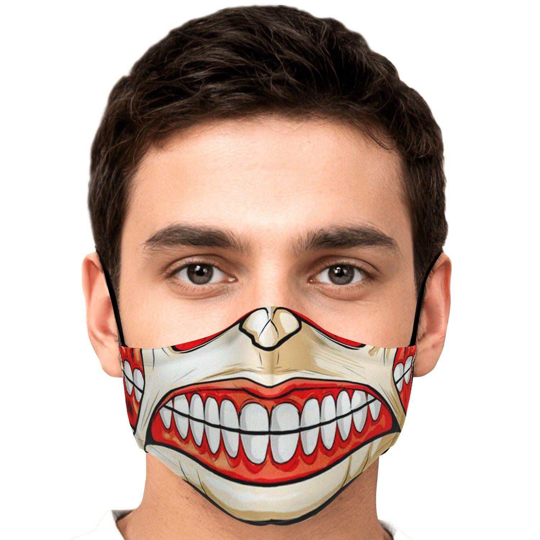 colossal titan attack on titan premium carbon filter face mask 588051 - Attack On Titan Store