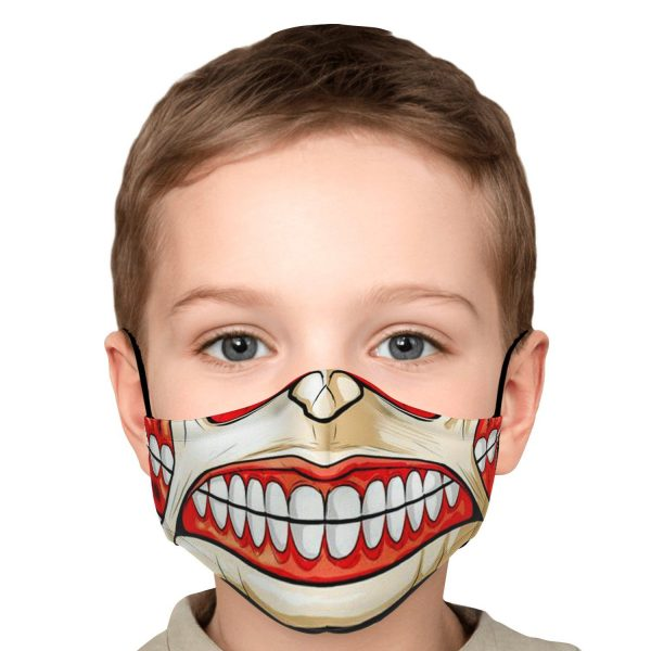 colossal titan attack on titan premium carbon filter face mask 712178 - Attack On Titan Store