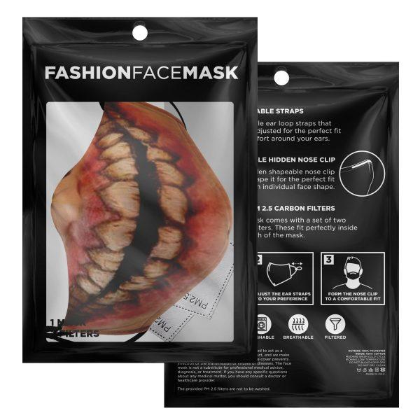 jaw titan v1 attack on titan premium carbon filter face mask 542611 - Attack On Titan Store