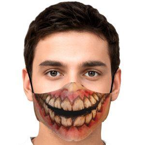 jaw titan v1 attack on titan premium carbon filter face mask 787549 - Attack On Titan Store