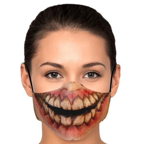 jaw titan v1 attack on titan premium carbon filter face mask 991591 - Attack On Titan Store