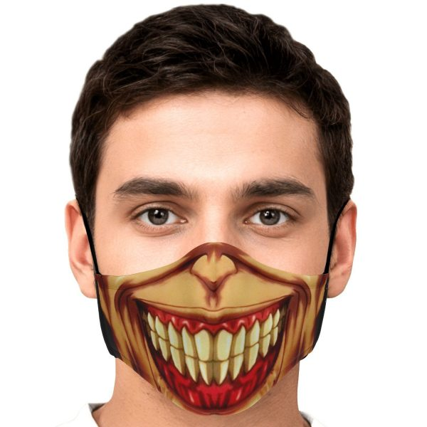 jaw titan v3 attack on titan premium carbon filter face mask 158125 - Attack On Titan Store