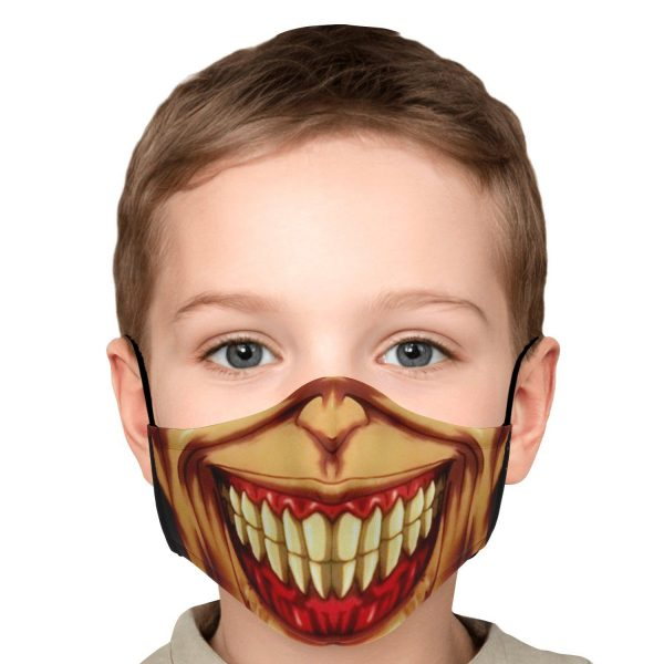 jaw titan v3 attack on titan premium carbon filter face mask 429163 - Attack On Titan Store
