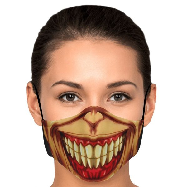 jaw titan v3 attack on titan premium carbon filter face mask 664039 - Attack On Titan Store
